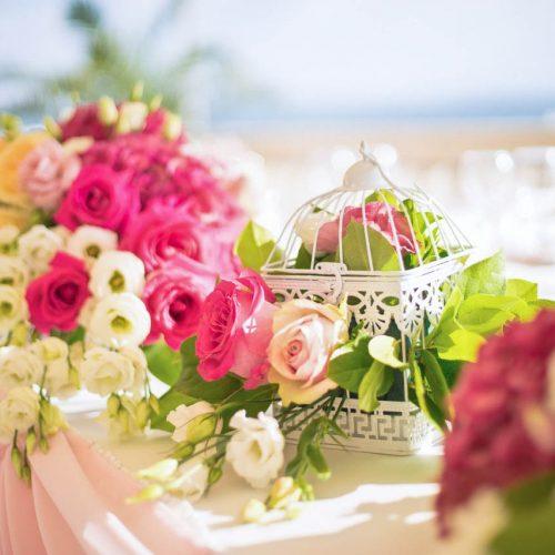 Декорация в розово и циклама